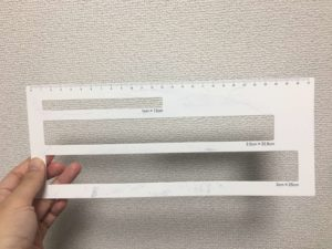 宅配物用厚さ測定定規